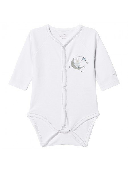 Боди Catching Stars Angel Full Snap Body White / Blue