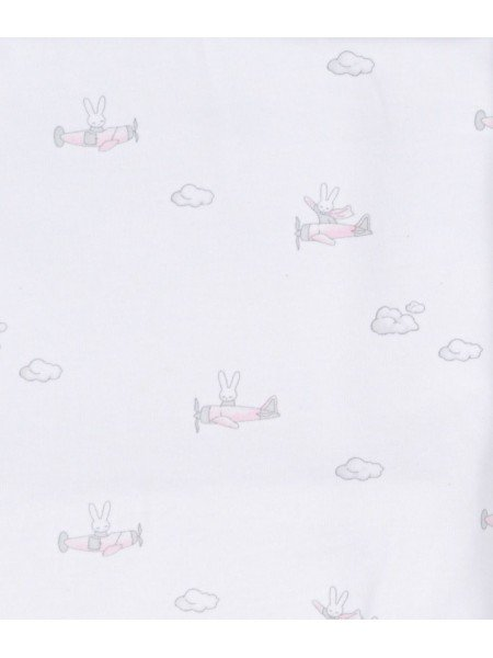 Одеяло Bunny Airplane Blanket Pink