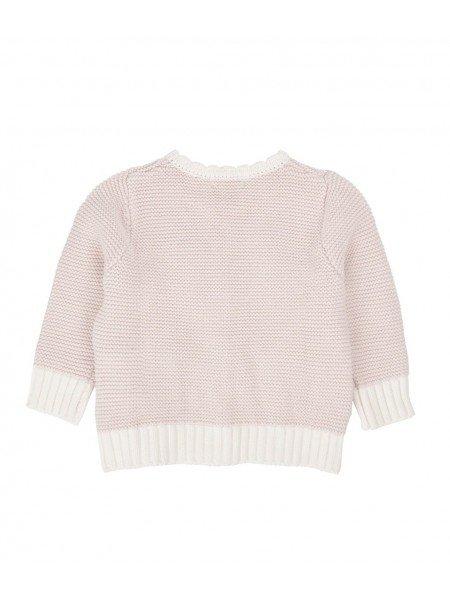 Кардиган Knit Cardigan Light Mauve / White