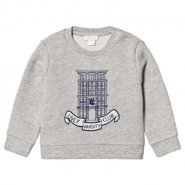 Свитшот Varsity Club Sweatshirt Light Grey Melange