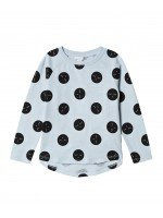 Лонгслив Sleeping Cutie Polkadots Ice blue