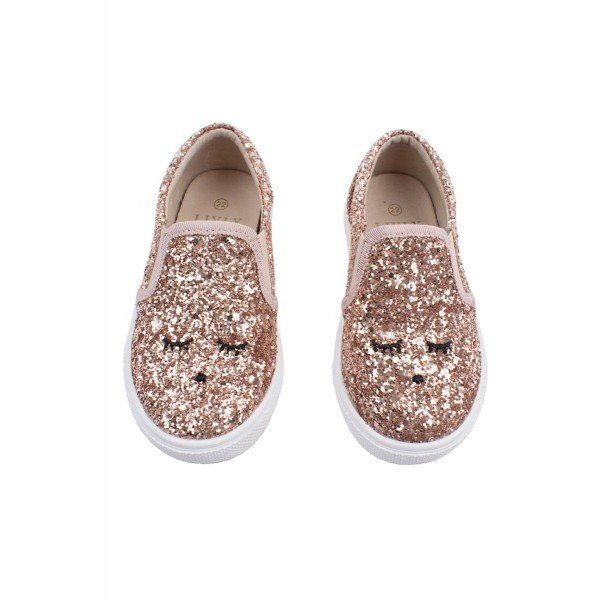 Слипоны Sam Slide Shoes Bronze Glitter