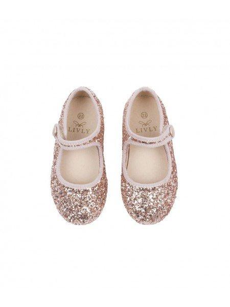 Туфли Mary Jane Shoes Bronze Glitter