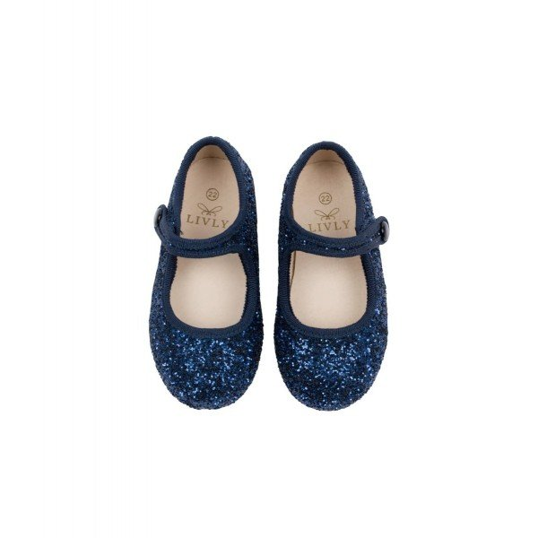 Туфли Mary Jane Shoes Navy Glitter