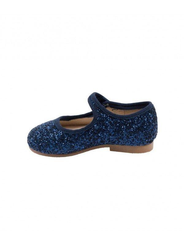 Туфли Mary Jane Shoes Navy Glitter