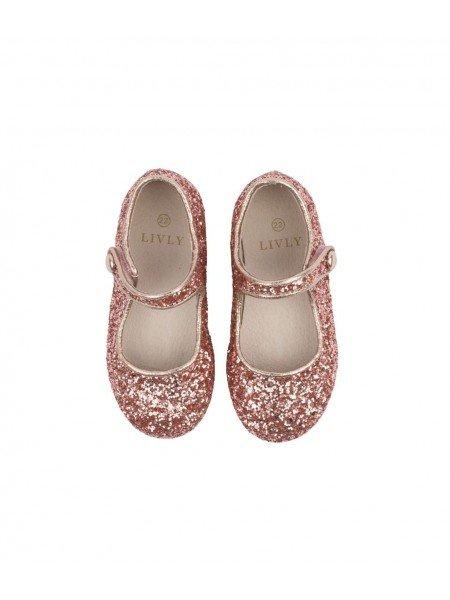 Туфли Mary Jane Shoes Rose Pink Glitter