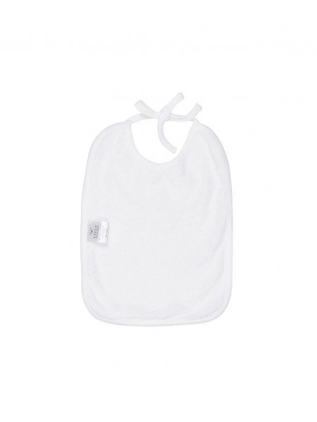 Слюнявчик Sleeping Cutie Tie Bib White / Grey